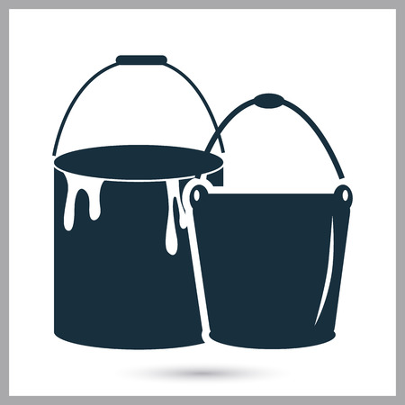 buckets: Two buckets icon on the background Illustration