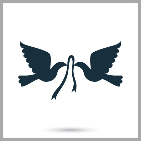 kinship: Wedding pigeons icon on the background