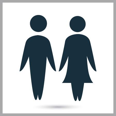 loving couple: Loving couple icon on the background