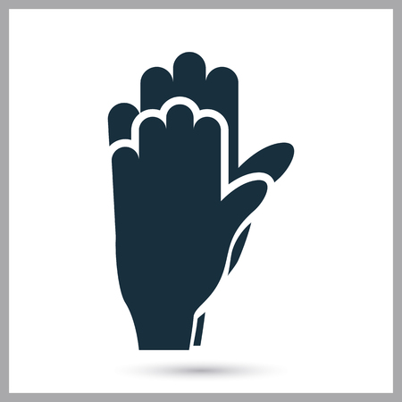 hand touch: Hand touch icon on the background