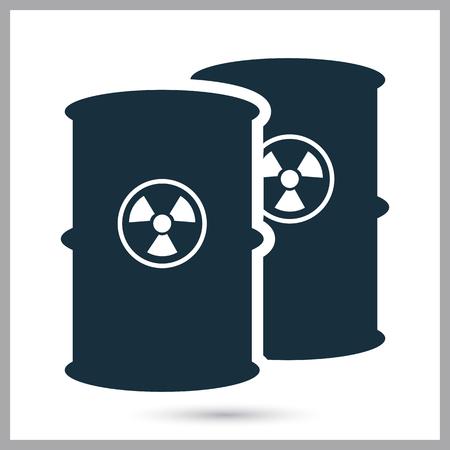 poison symbol: Toxic waste barrel icon on the background Illustration