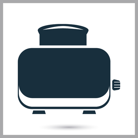ready cooked: Toaster icon on the background