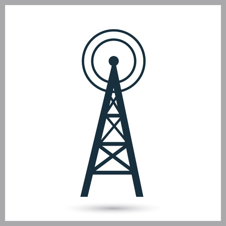 radio tower: Radio tower icon on the background