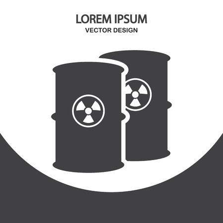 residuos toxicos: T�xico icono Barril de la basura en el fondo