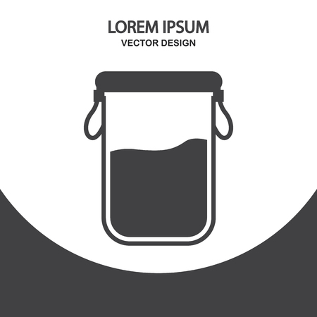 bulk: Container for bulk products icon on the background