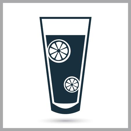 squash: Lemon squash icon on the background