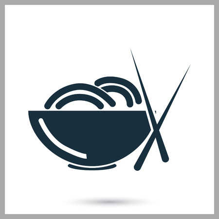 noodles: Noodles plate icon on the baclground