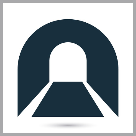 highway tunnels: Subway tunnel icon on the background Illustration