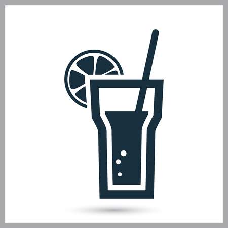 th: Cocktail icon on th background