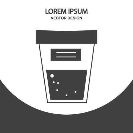 Urine test icon on the background Illustration