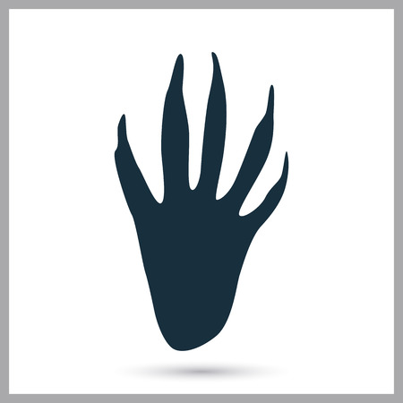otter: Otter paw print icon on the background