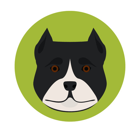 ear protection: Dog muzzle color icon Illustration