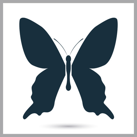 butterfly background: Butterfly icon on the background