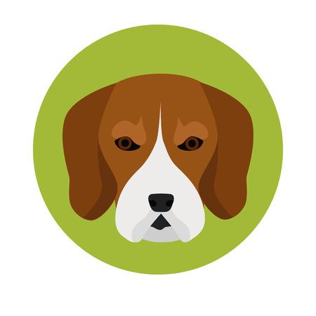 favorite colour: Dog muzzle color icon Illustration