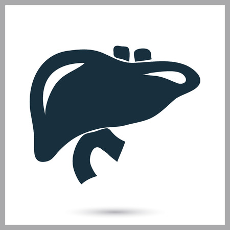 purify: Human liver icon on the background Illustration
