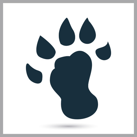 wolverine: Wolverine paw print icon on the background