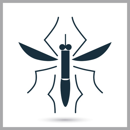 anopheles: Mosquito icon on the background