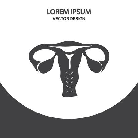 livelihoods: Female uterus icon on the background