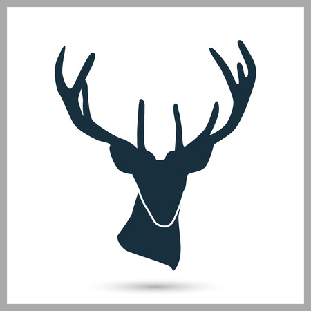 horny: Deer icon on the background Illustration