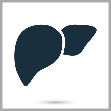 human liver: Human liver icon on the background Illustration