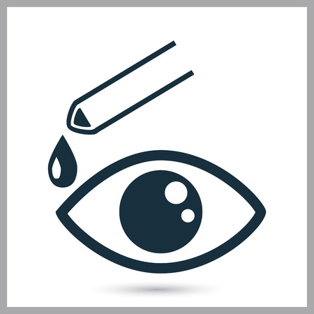 eye drops: Eye drops icon on the background
