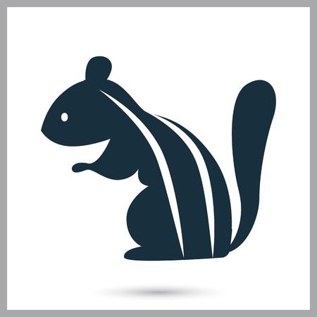 ardilla: icono de ardilla en el fondo