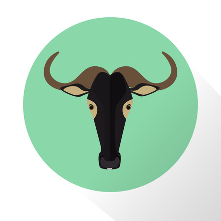 Wildebeest color flat icon