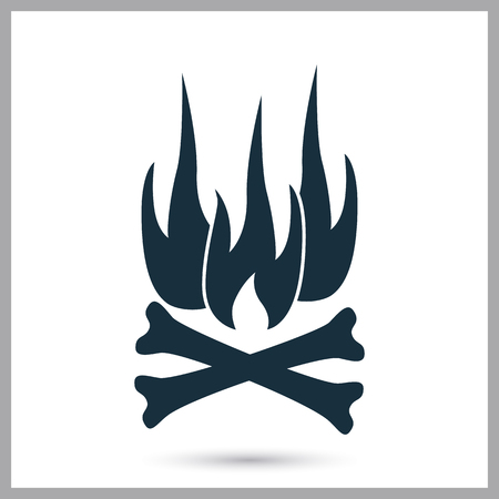 merit: Fire danger icon on the background