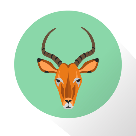 hoof: Chamois color flat icon