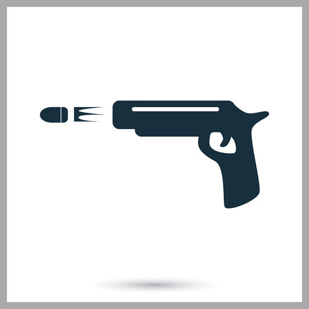 gun shot: Gun shot icon on the background Illustration