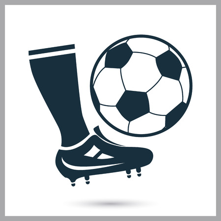hit: Football hit icon on the background Illustration