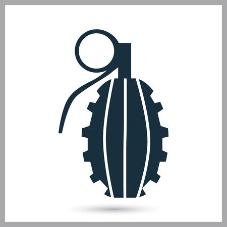 granade: Military granade icon on the background