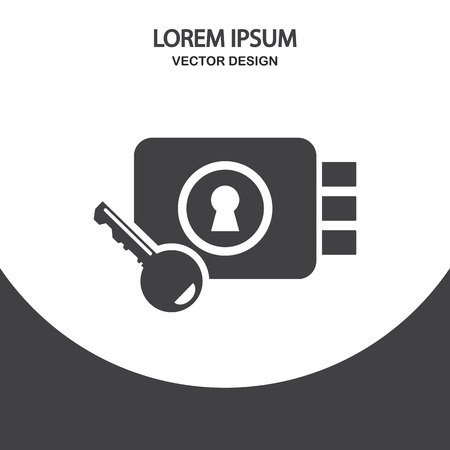lock and key: Lock and key icon on the background Illustration