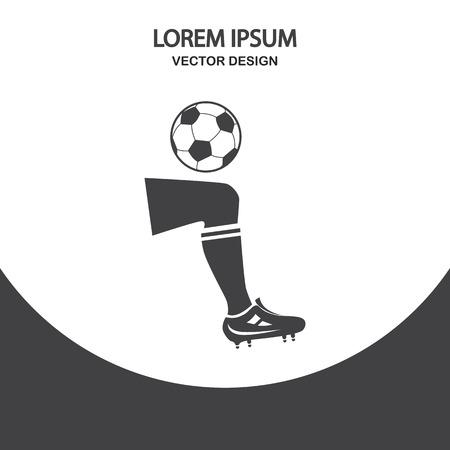 gaiters: Football hit icon on the background Illustration