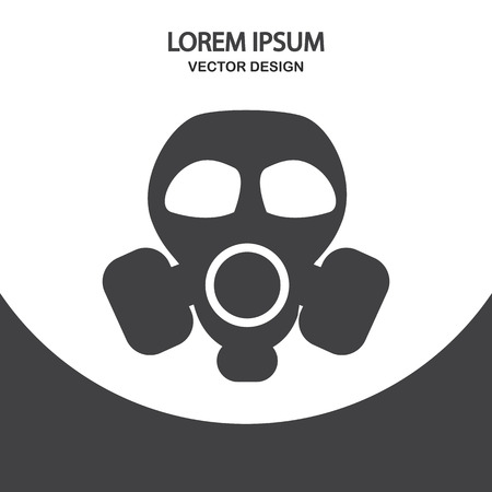 respirator: Respirator icon on the background Illustration