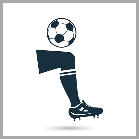 gaiters: Football hit icon on the background Illustration