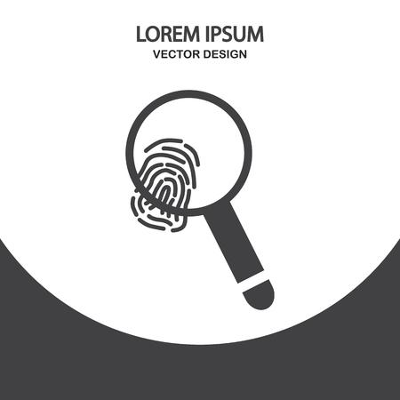 biometrics: Fingerprint icon on the background Illustration