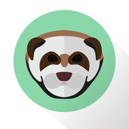 weasel: Weasel color flat icon Illustration