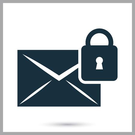 correspondencia: Protecci�n de icono de la correspondencia en el fondo