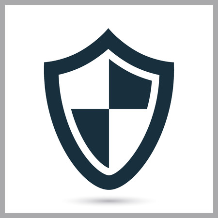 Shield icon on the background