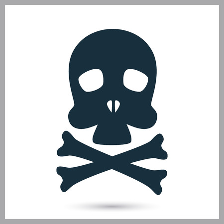 merit: Death danger sign icon on the background