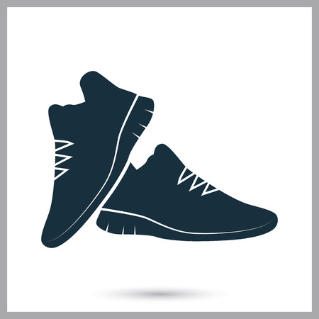 scamper: Sneakers icon on the background Illustration