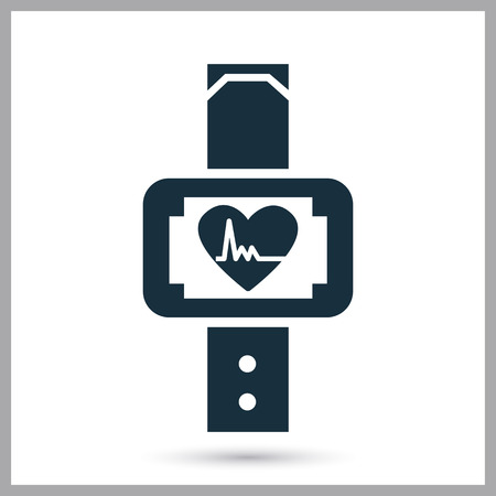 beat the clock: Sport watch icon on the background