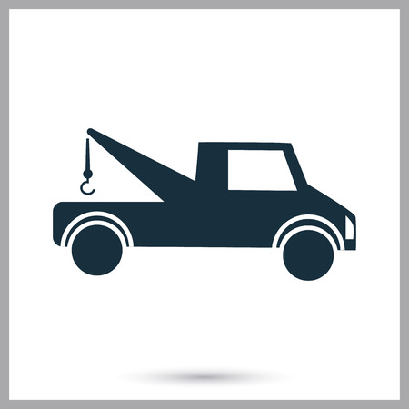 luggage carrier: Tow truck icon on the background Illustration