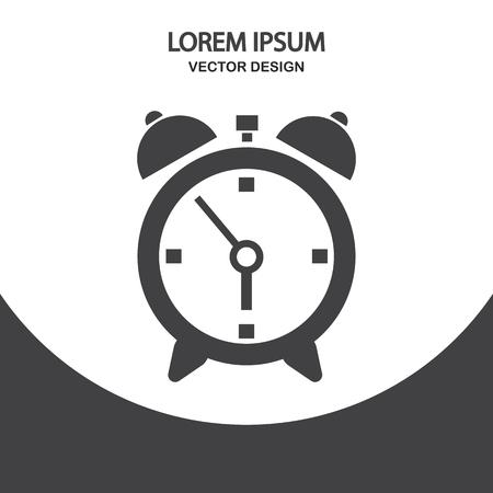 awake: Alarm icon on the background Illustration