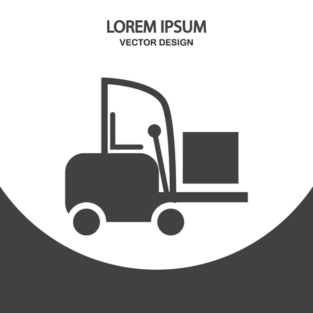 shipper: Forklift icon on the background