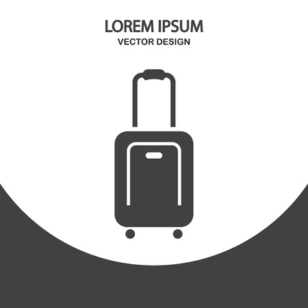 roomy: Travel suitcase icon on the background