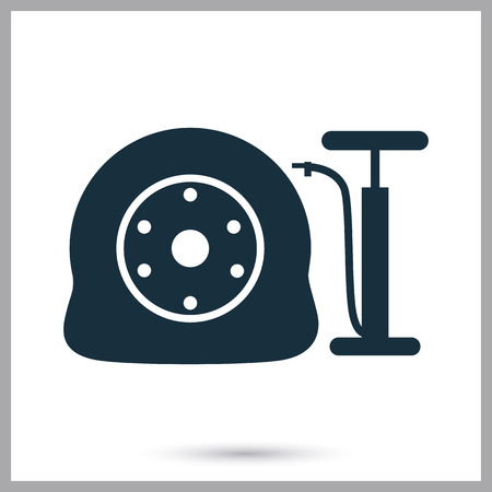 pumping: Wheel pumping icon on the background Illustration