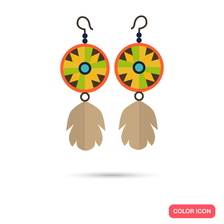 earrings: Indians women earrings color flat icon