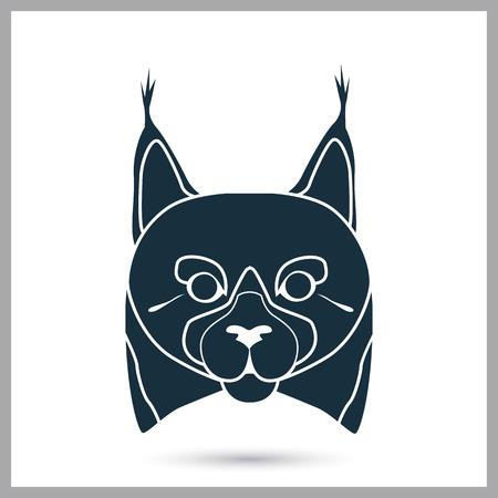 lynx: Lynx icon on the background Illustration